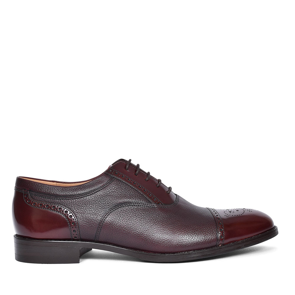 WOODSTOCK LEATHER BROGUE FOR MEN in RED