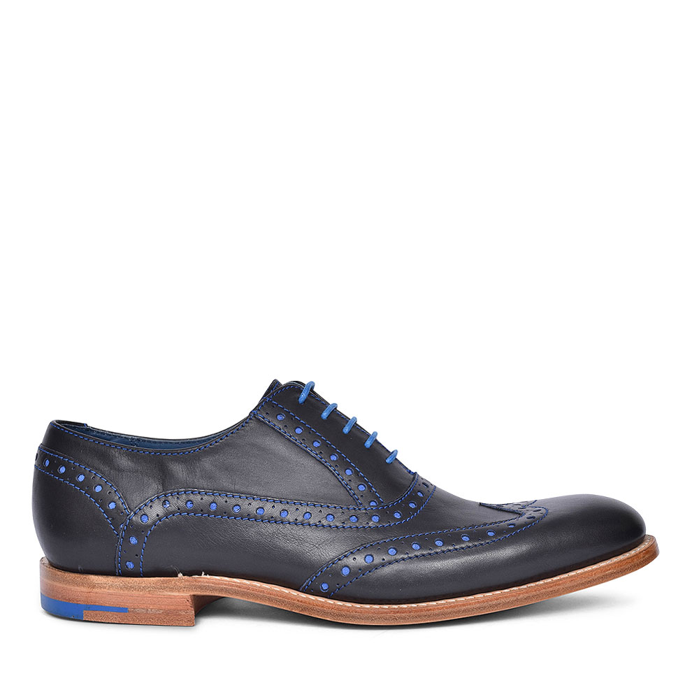 GRANT LEATHER BROGUES FOR MEN in NAVY