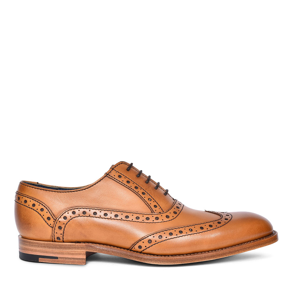 GRANT LEATHER BROGUES FOR MEN in TAN