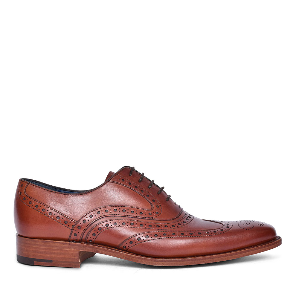 McCLEAN LEATHER BROGUES FOR MEN in BROWN
