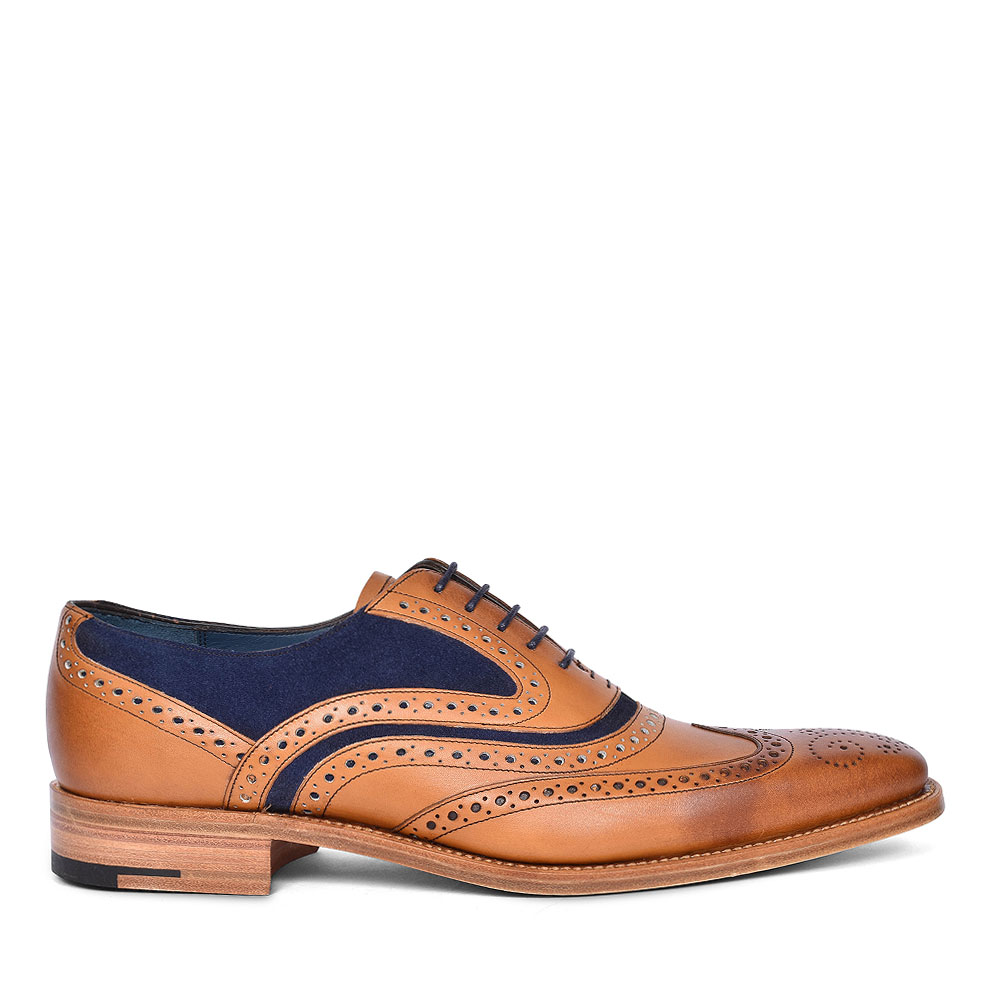 McCLEAN LEATHER BROGUES FOR MEN in TAN