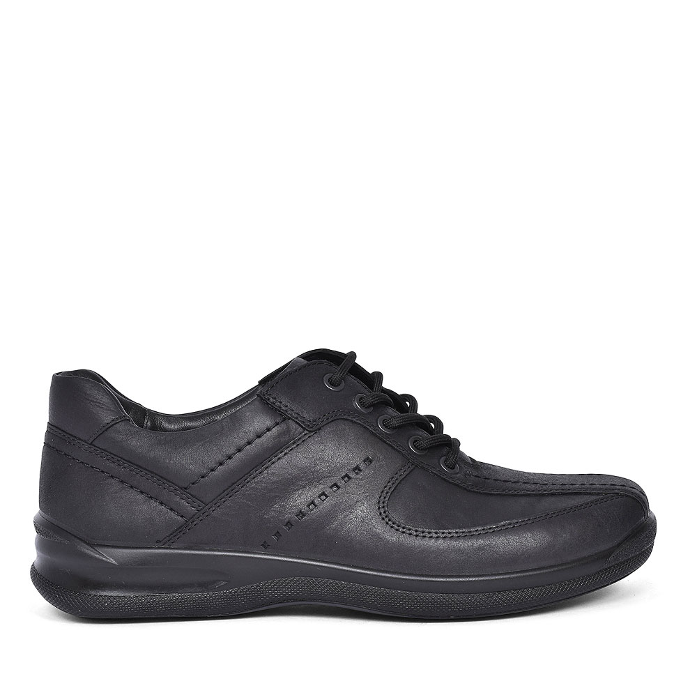 LANCE STD FIT LEATHER LACE SHOE FOR MEN in BLACK