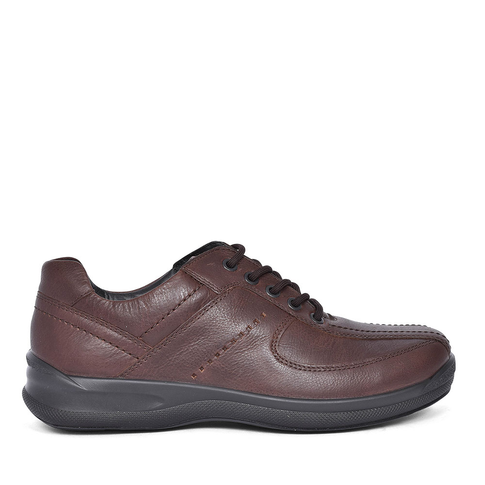 LANCE STD FIT LEATHER LACE SHOE FOR MEN in BROWN
