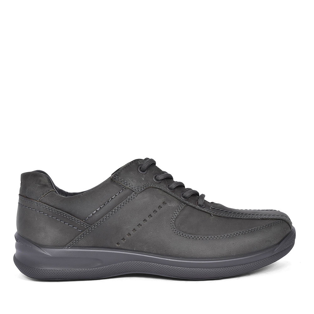 LANCE STD FIT LEATHER LACE SHOE FOR MEN in GREY