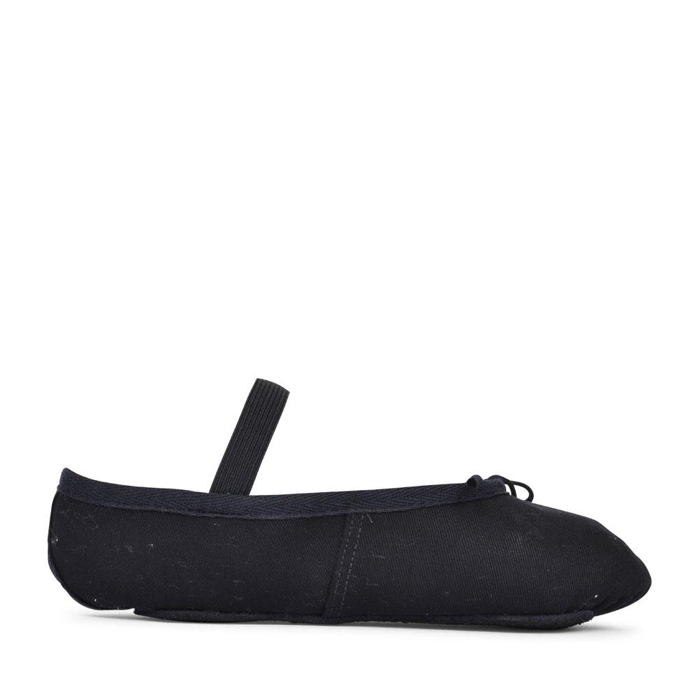 FULL SOLE BALLET PUMP IN BLACK CANVAS FOR GIRLS in BLACK