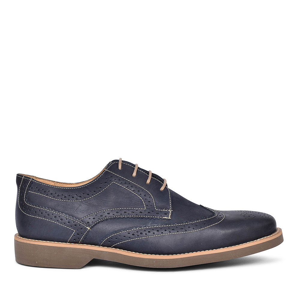 565626 TUCANO BROGUE LACE SHOES FOR MEN in NAVY