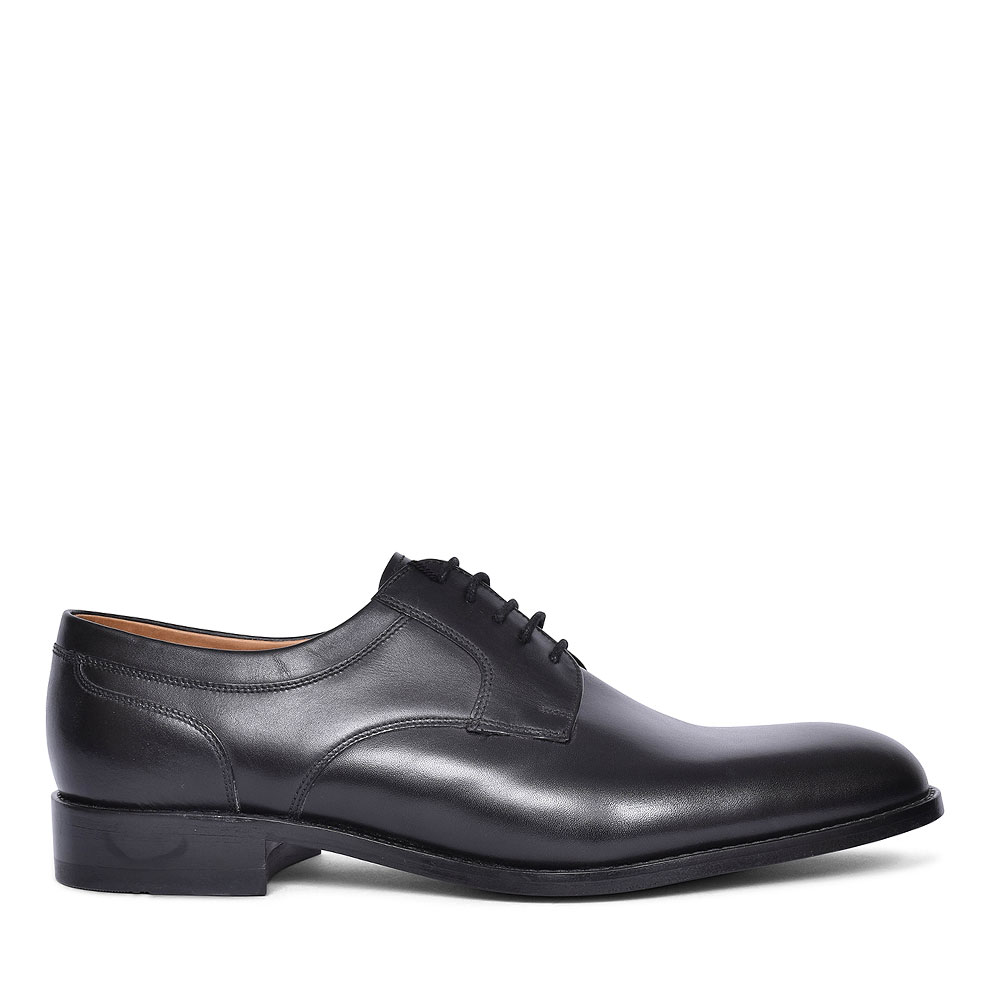 WYCOMBE LACED PLAIN TOE SHOE FOR MEN in BLACK