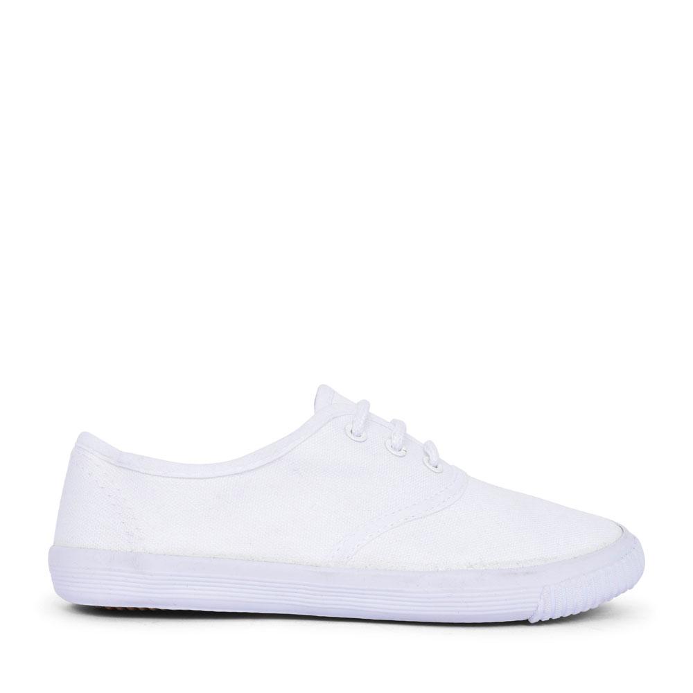 R4301JR CANVAS PLIMSOLLS FOR GIRLS in WHITE