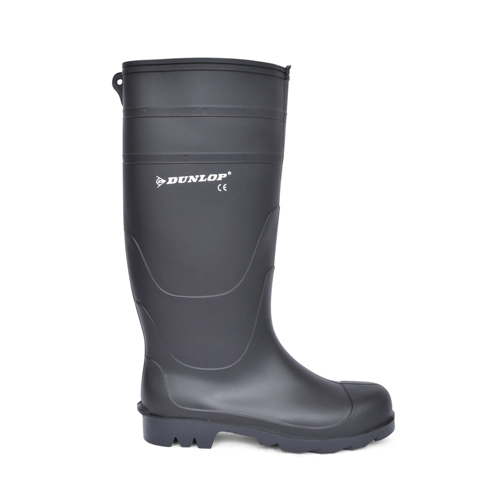 MENS W014A LONG LEG WELLY BOOT in BLACK