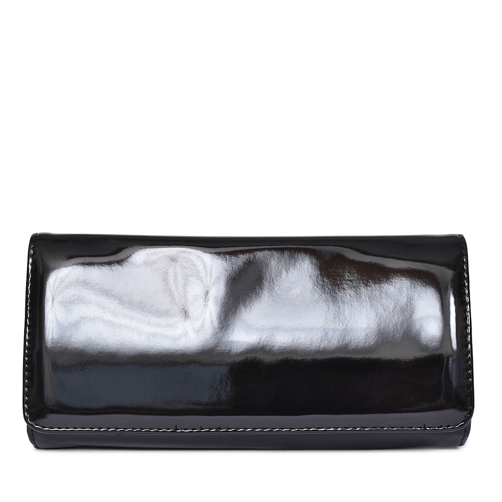 CLUTCH BAG FOR LADIES in BLACK PATENT