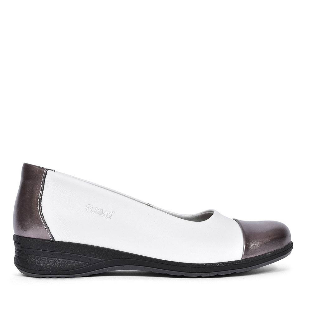 BETH PATENT TOE SHOE FOR LADIES in WHITE