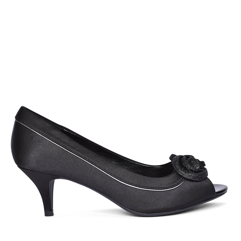RIPLEY FLR 222 COURT SHOES FOR LADIES in BLACK
