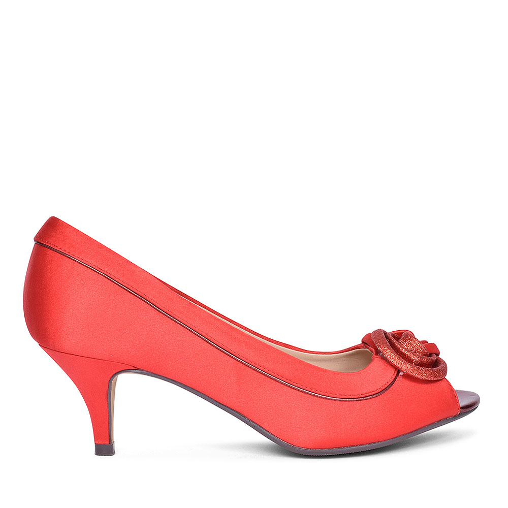 RIPLEY FLR 222 COURT SHOES FOR LADIES in RED