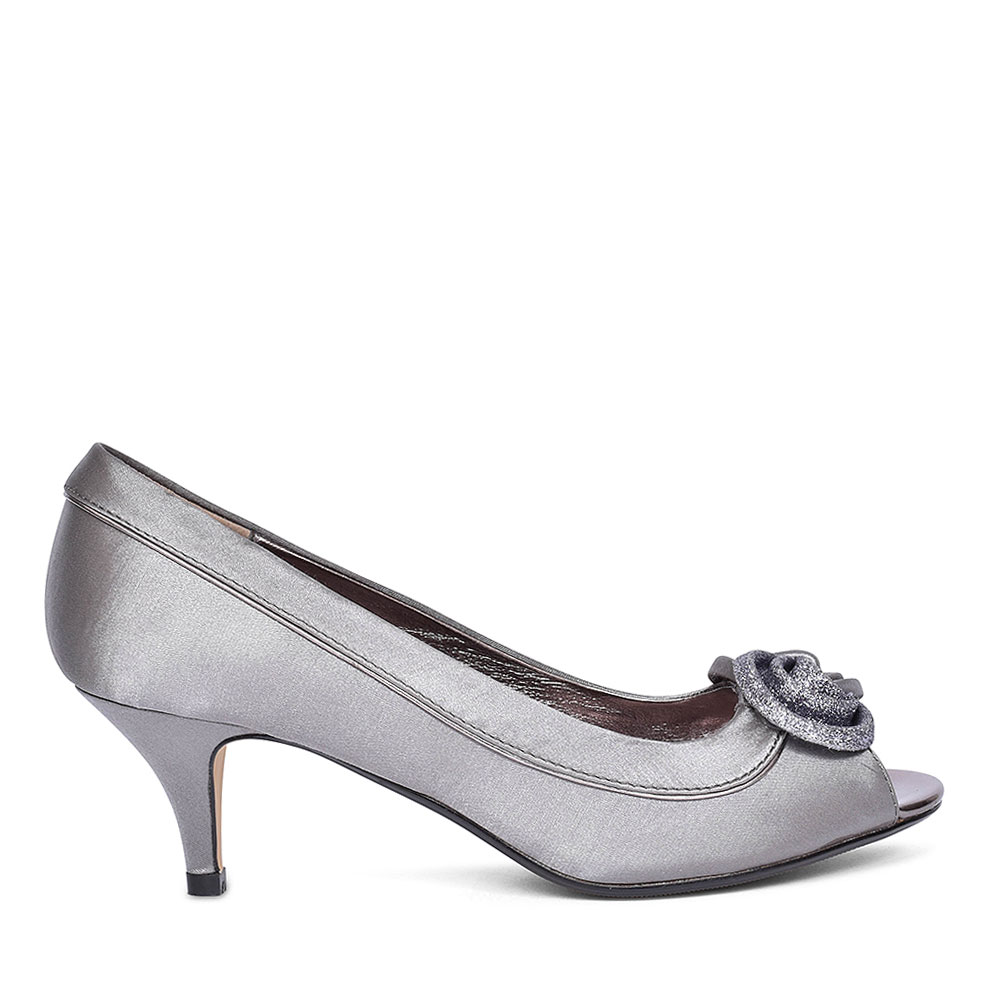 RIPLEY FLR 222 COURT SHOES FOR LADIES in GREY