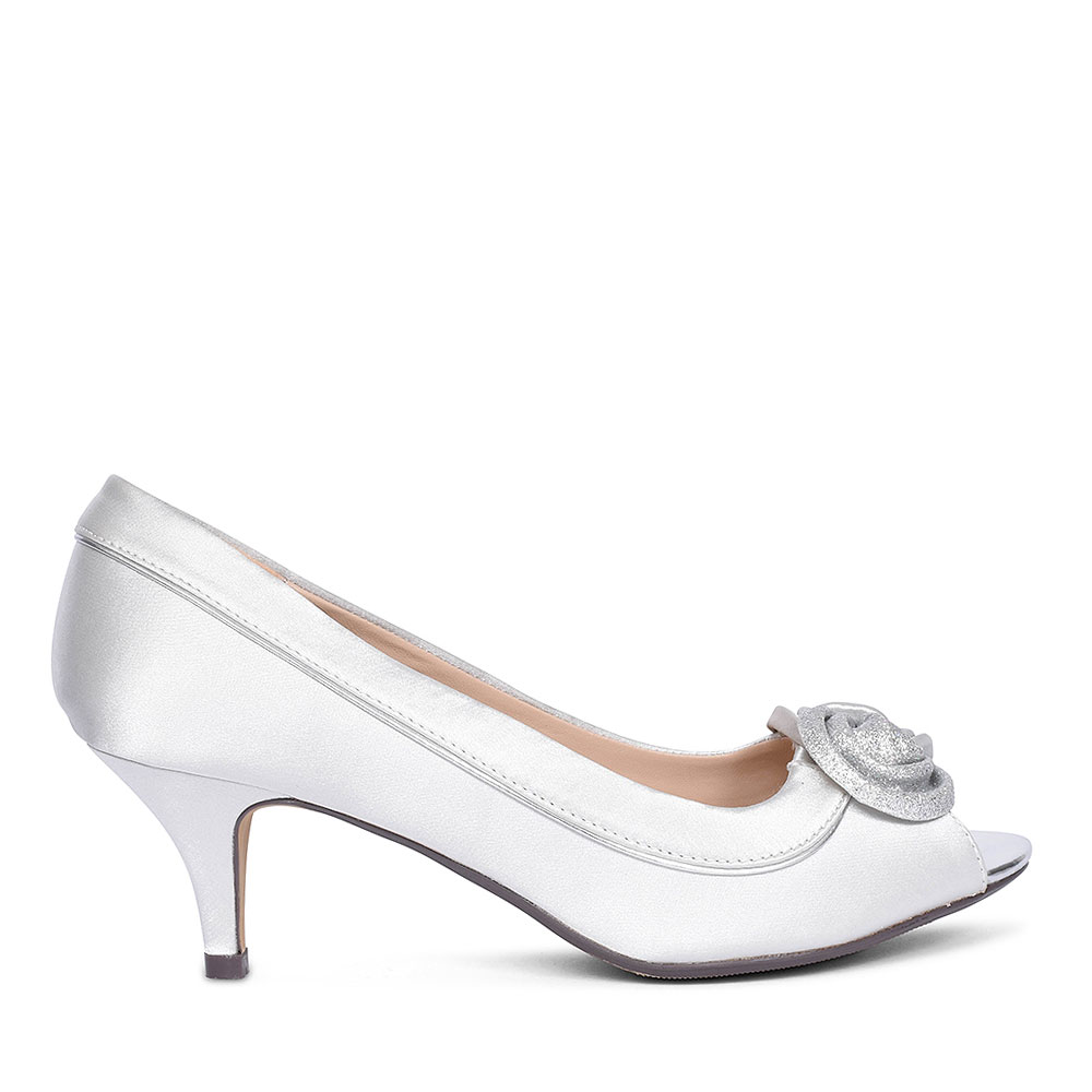RIPLEY FLR 222 COURT SHOES FOR LADIES in SILVER