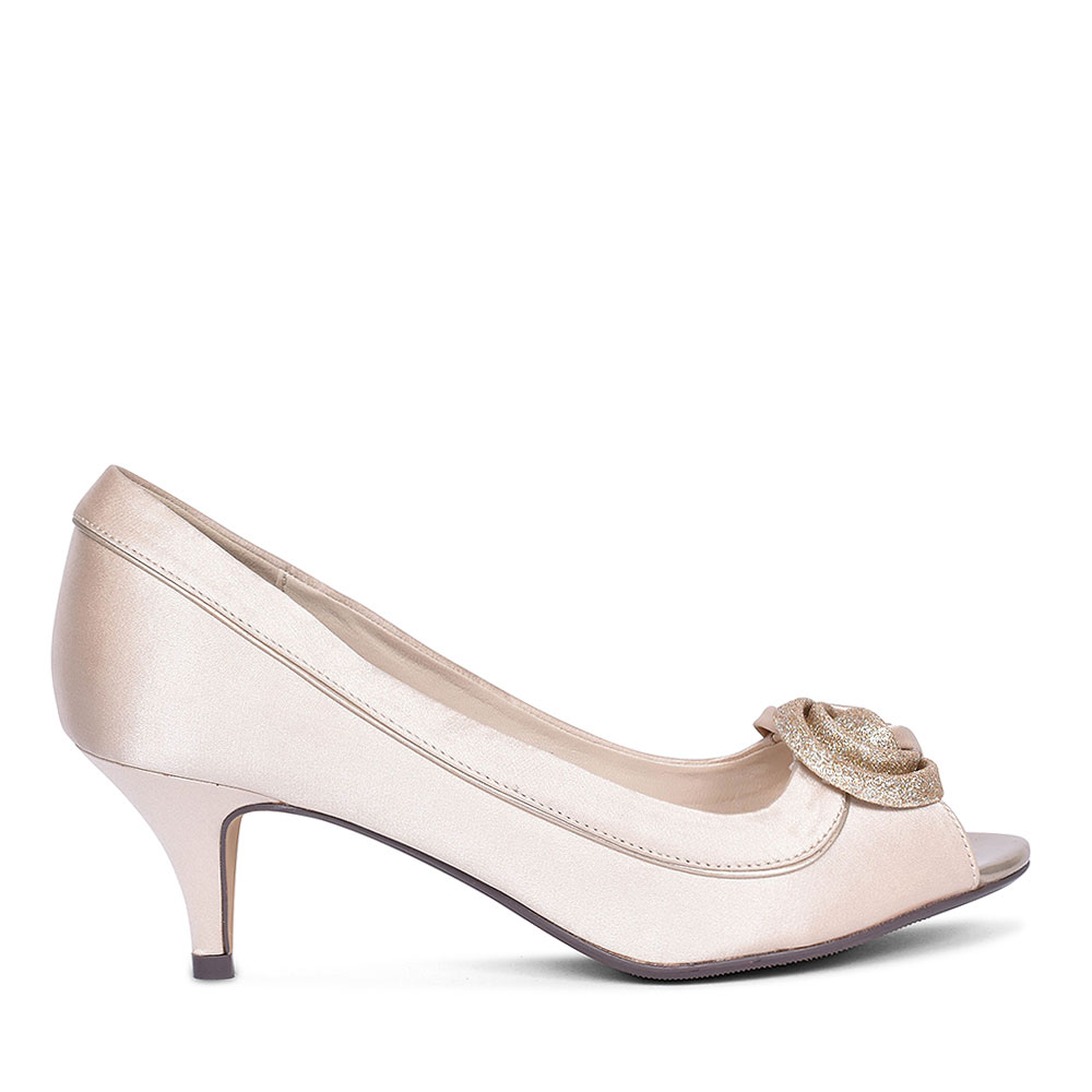 RIPLEY FLR222 COURT SHOES FOR LADIES in CHAMPAGNE