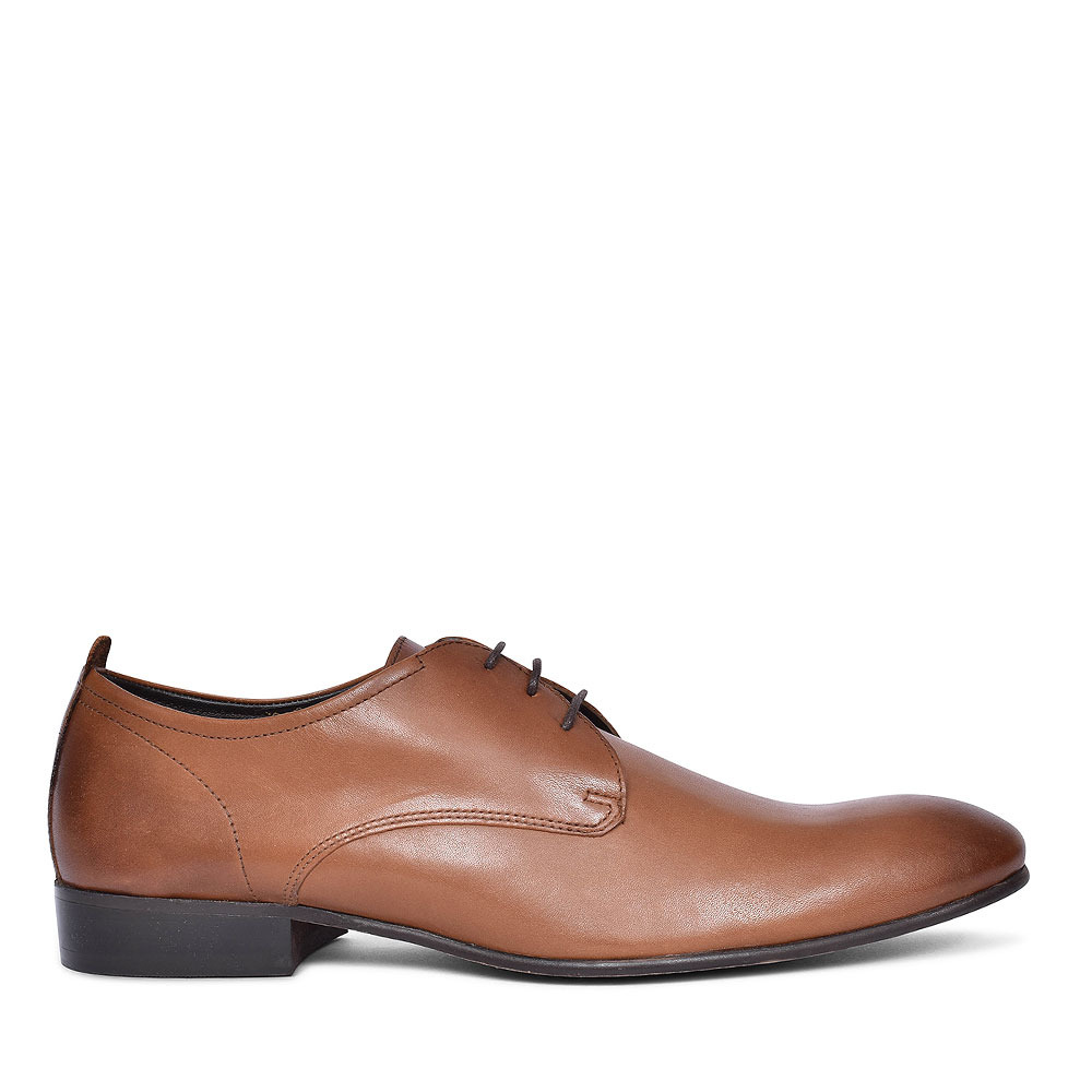 Business Laced Plain Oxford Shoes for Men in TAN