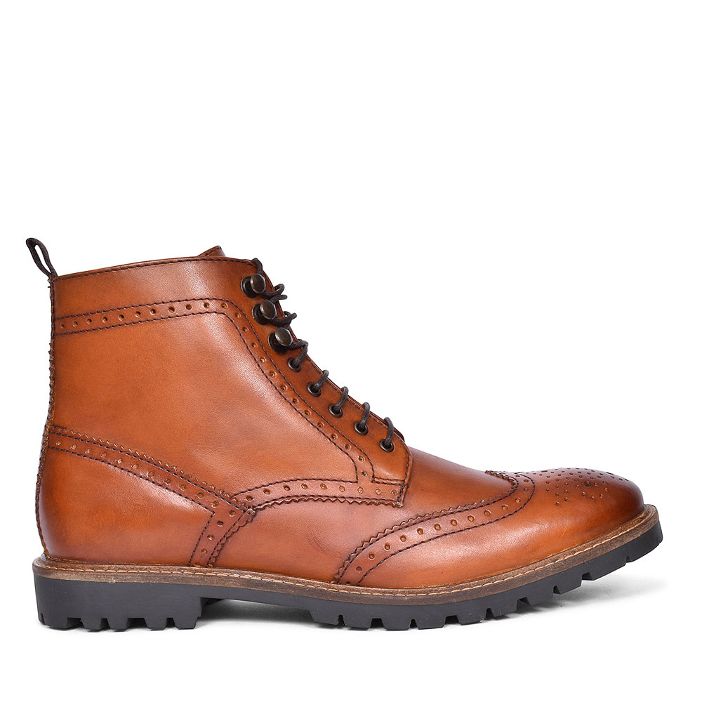 Troop Laced Ankle Boots for Men in TAN