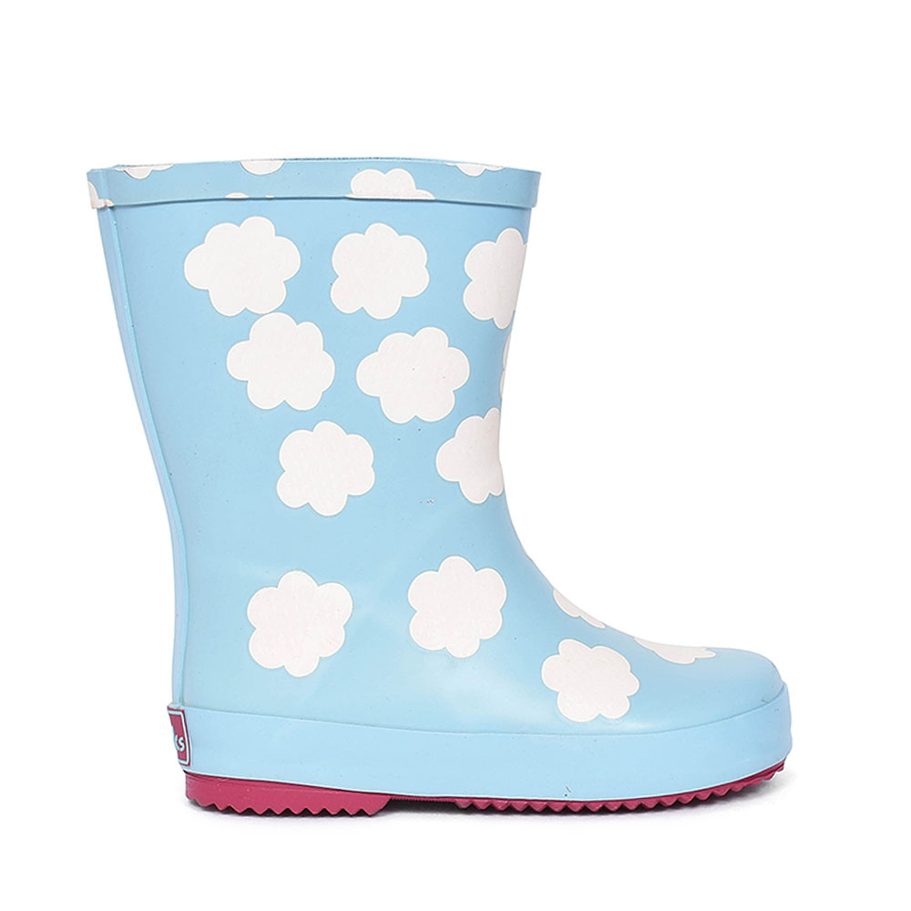 TARRI PATCH CLOUDS WELLIES FOR GIRLS in KIDS F FIT