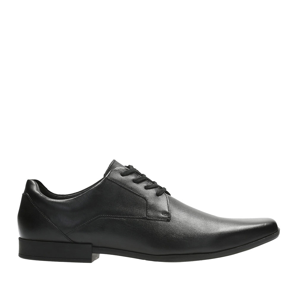 GLEMENT LACE LEATHER SHOE in BLK LEATHER