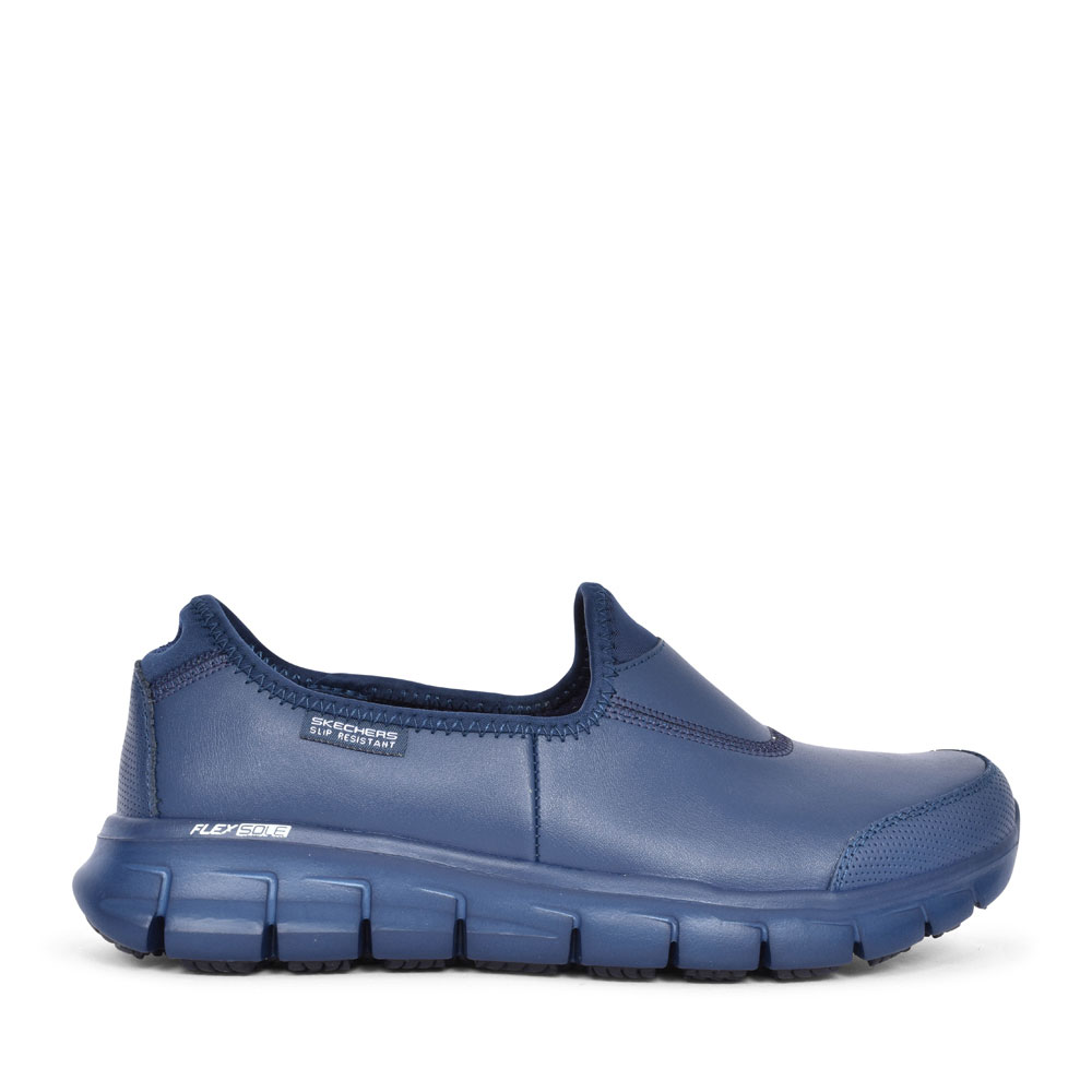 SURE TRACK NON SLIP WORK SHOE FOR LADIES in NAVY