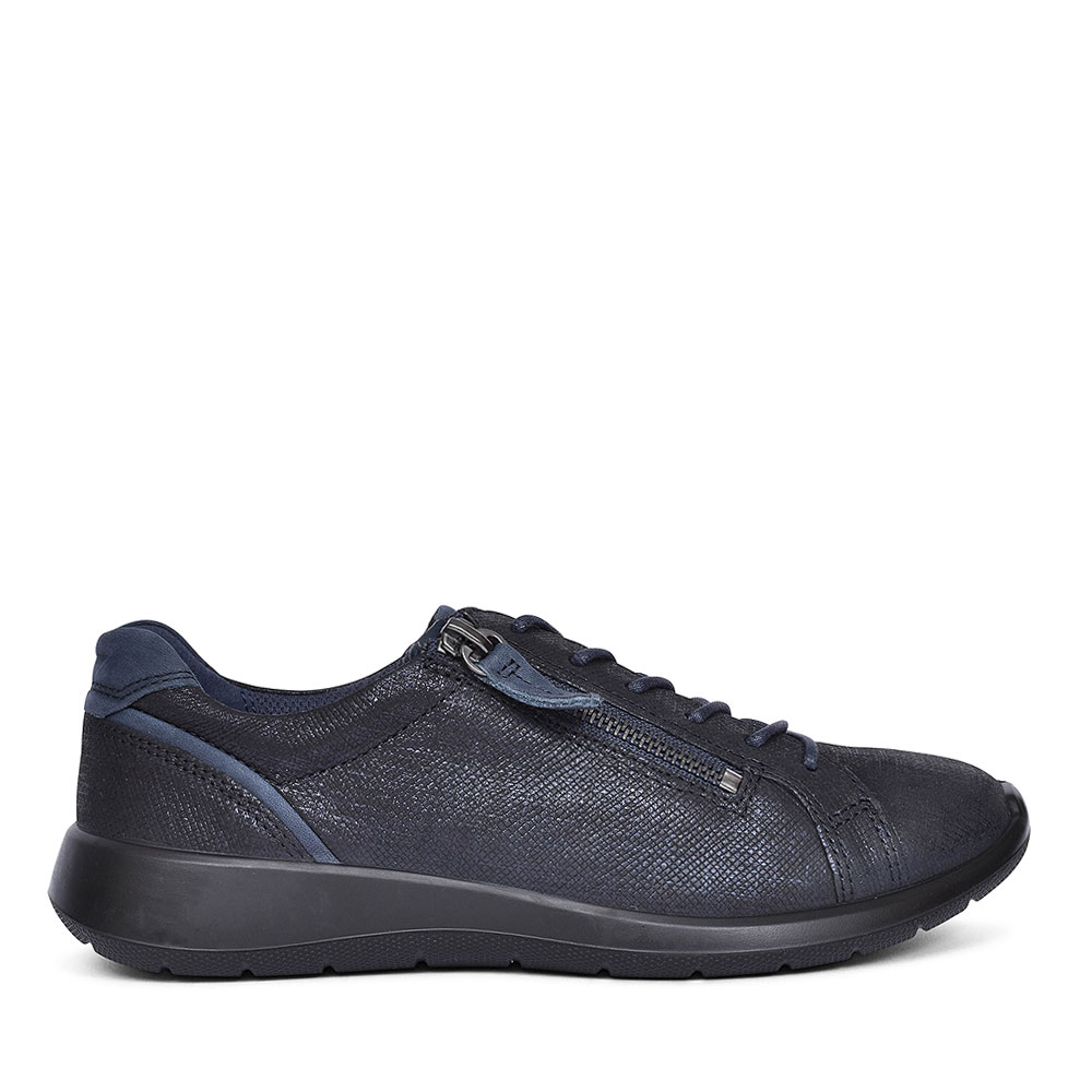 SOFT 5 LACED/ZIP PATENT TRAINER FOR WOMEN in NAVY