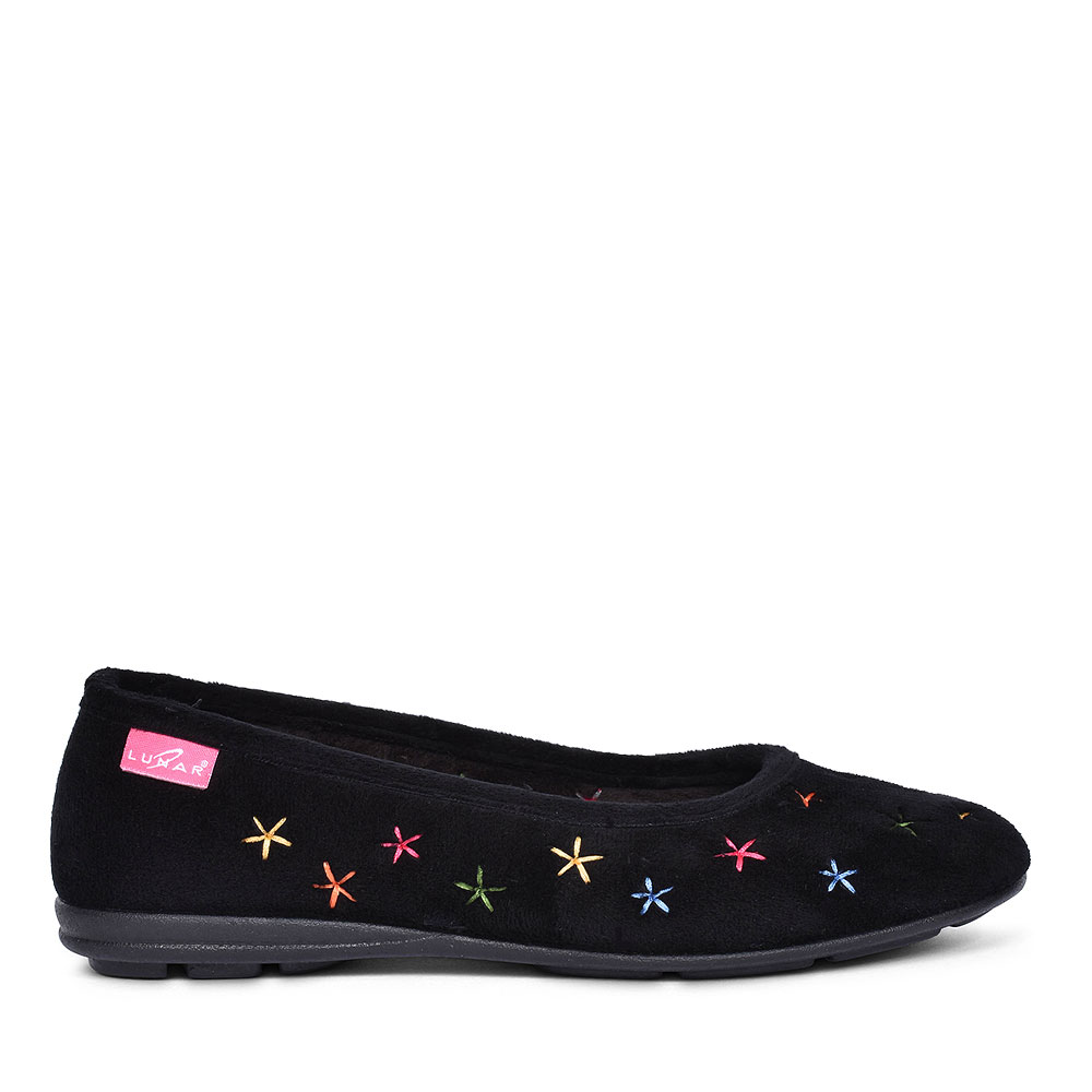 COSMOS SLIPPERS FOR LADIES in BLACK