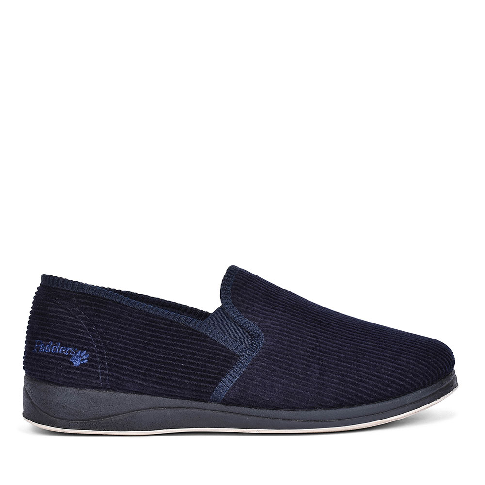 ALBERT CORD SLIPPERS FOR MEN in NAVY