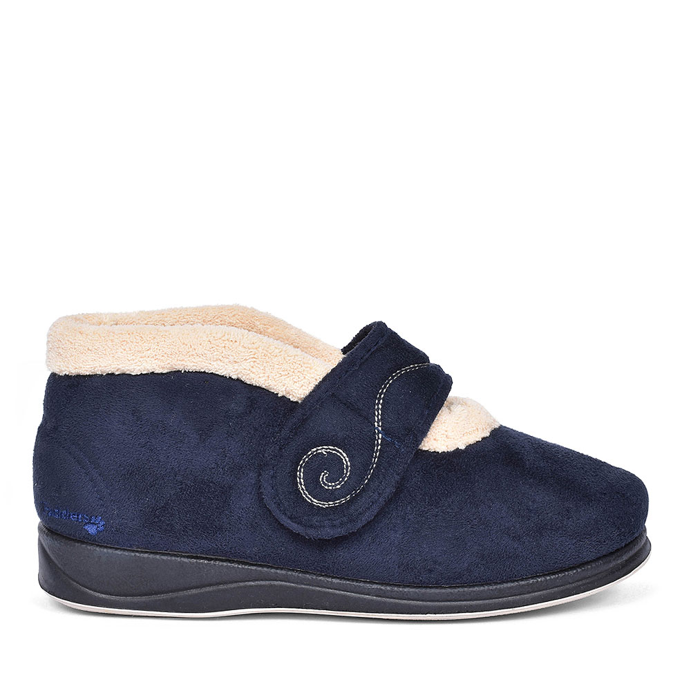HUSH BOOTIE SLIPPERS FOR LADIES in NAVY