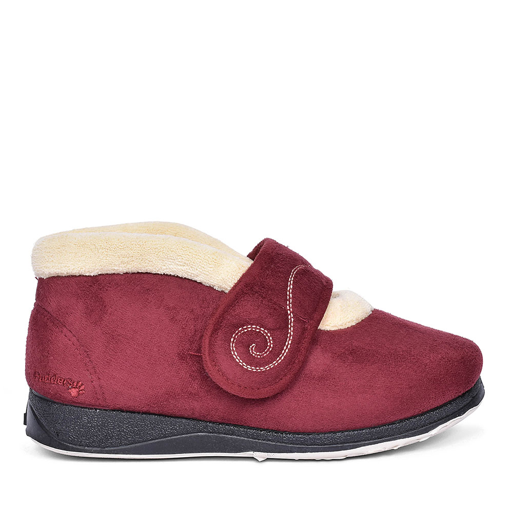HUSH BOOTIE SLIPPERS FOR LADIES in BURGANDY