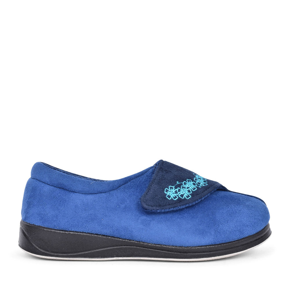 HUG FLORAL SLIPPER FOR LADIES in BLUE