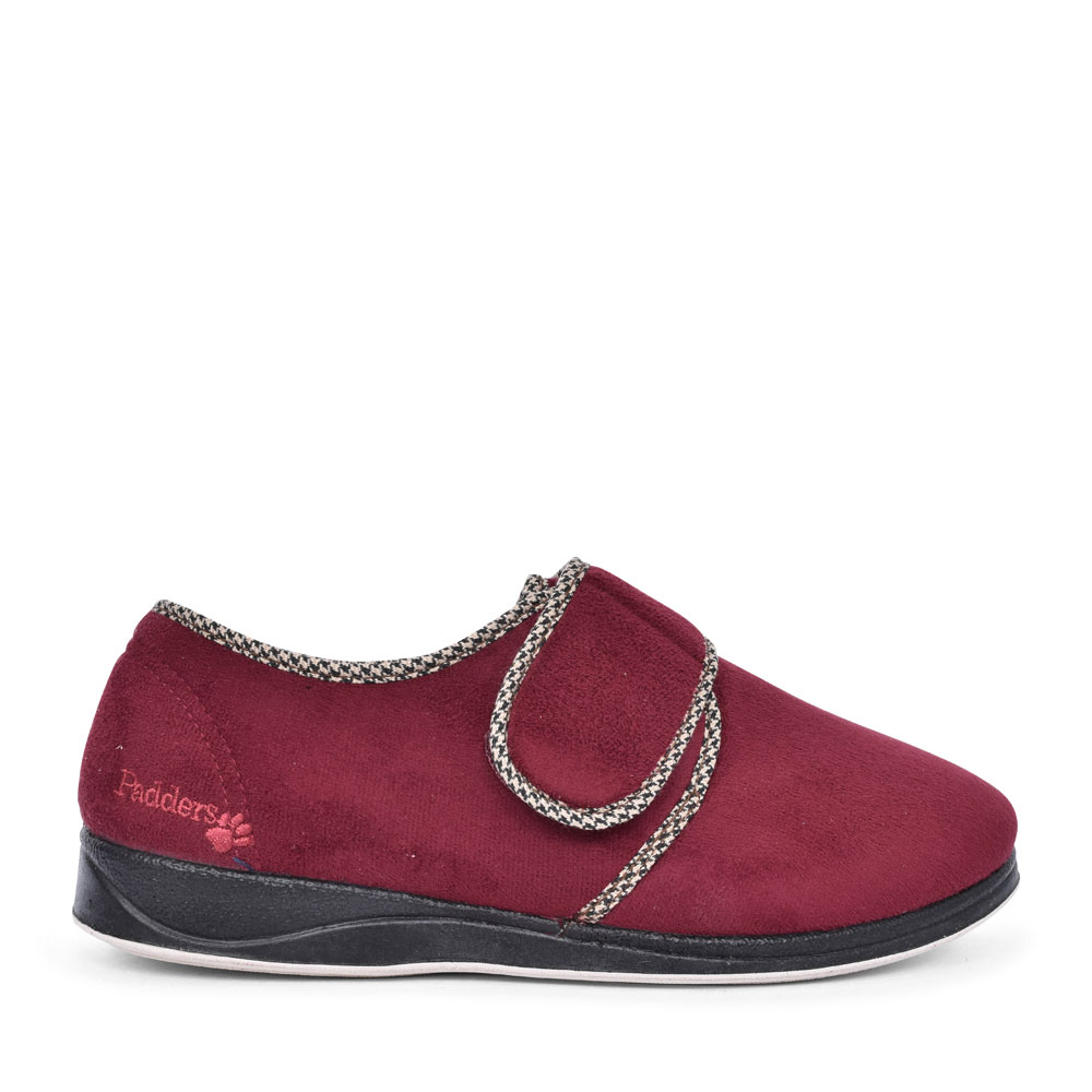 HARRY VELCRO SLIPPER FOR MEN in BURGANDY