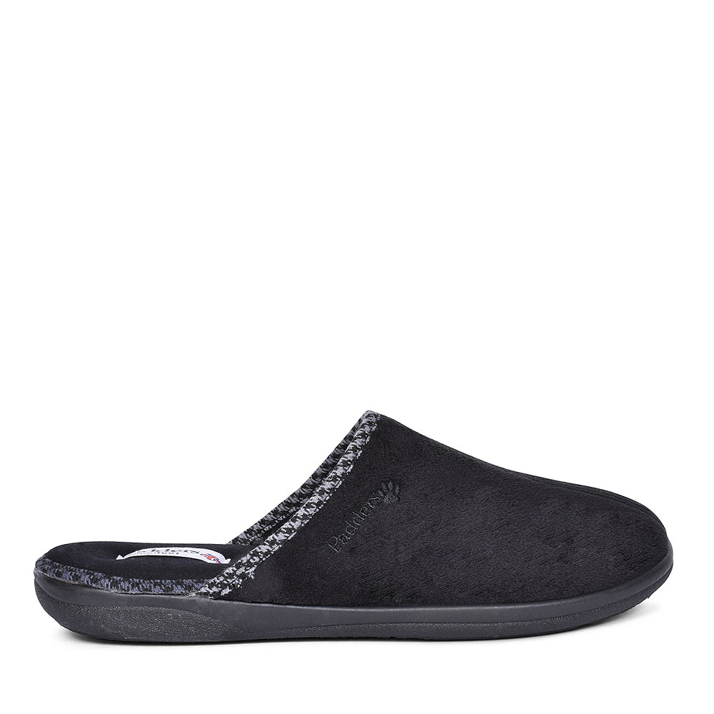 LUKE MULE SLIPPERS FOR MEN in BLACK
