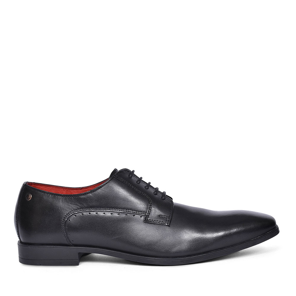 Penny Laced Long Toe Shoes for Men in BLACK