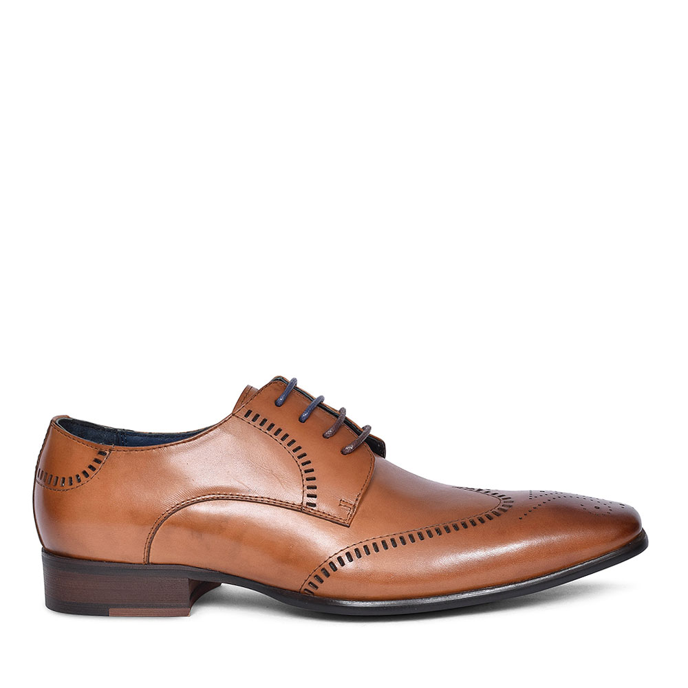 DEODORO LACED BROGUE SHOE FOR MEN in BROWN