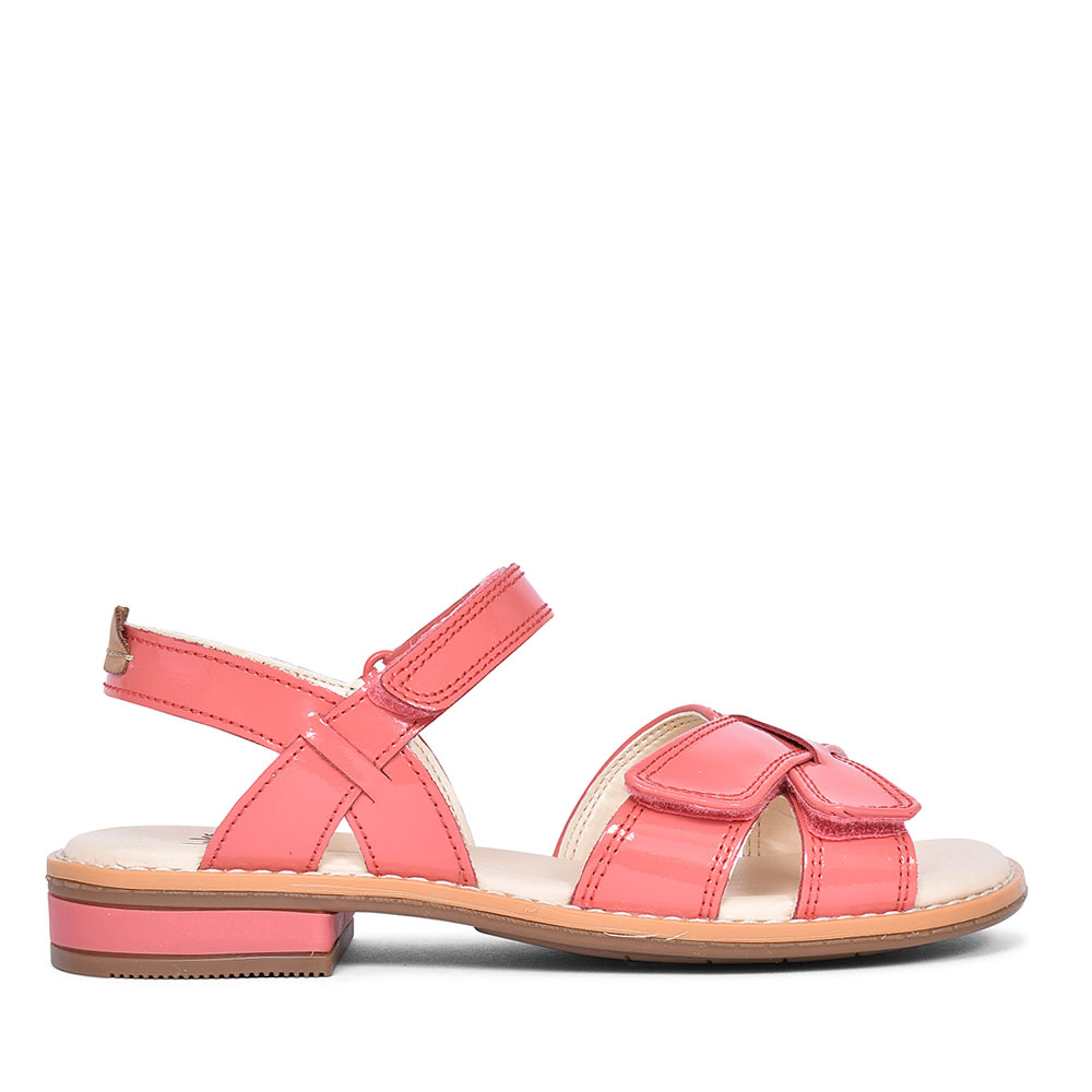 CORAL PATENT GIRLS SANDALS in KIDS COL F
