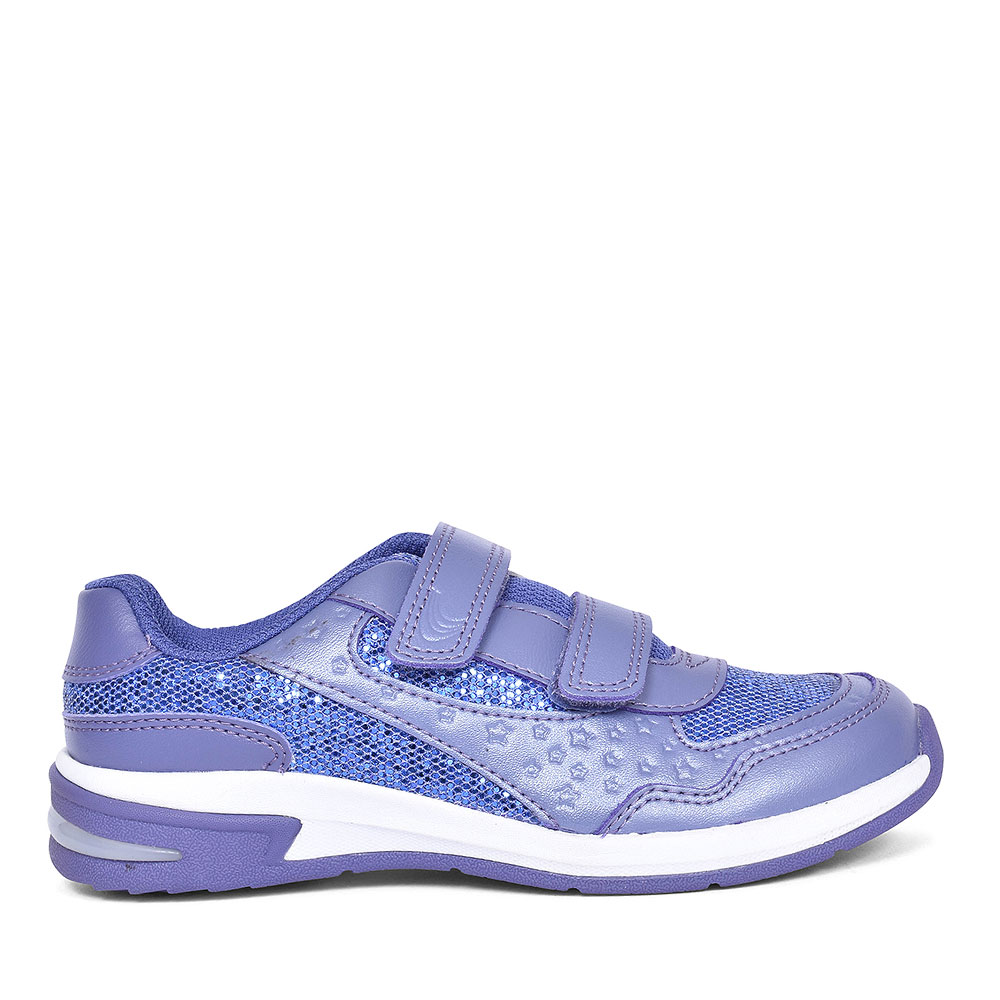 PIPER PLAY PURPLE LEATHER GIRLS TRAINERS in KIDS COL F