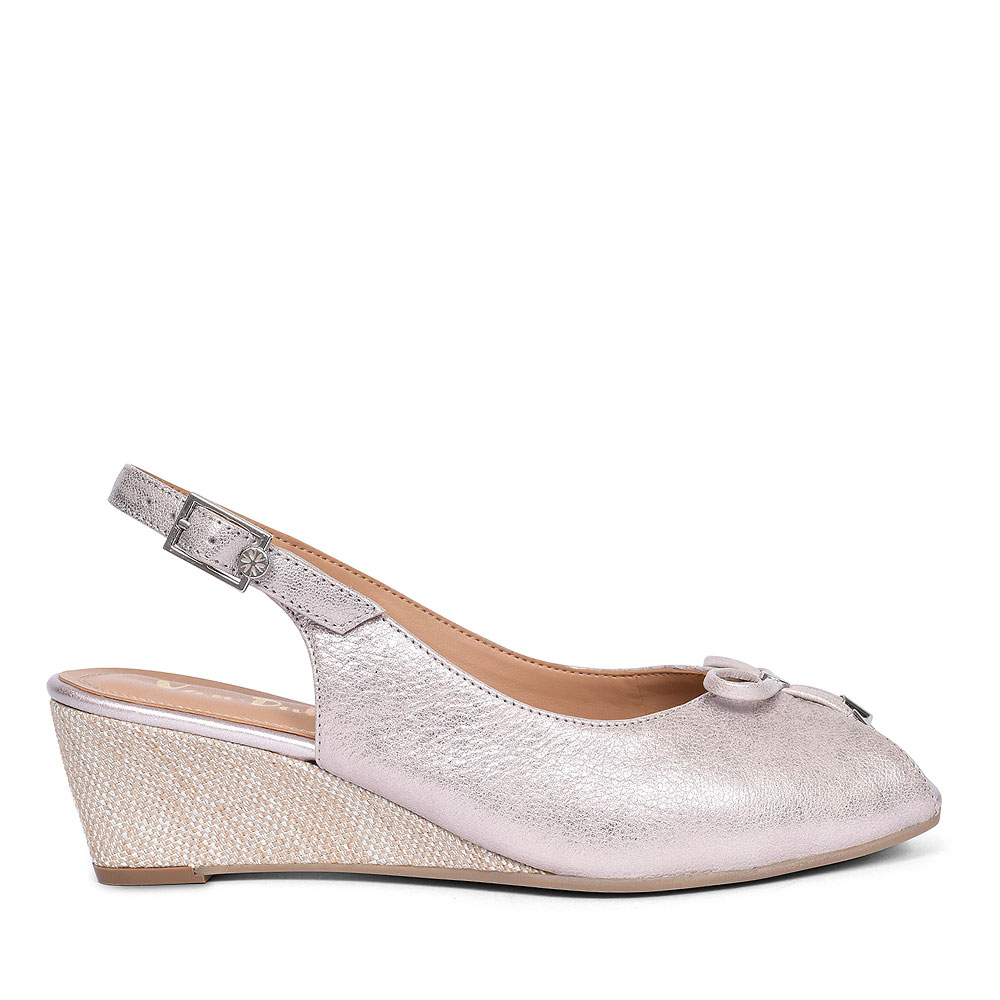 OXLEY WOMENS SLINGBACK SHOES in METALLIC