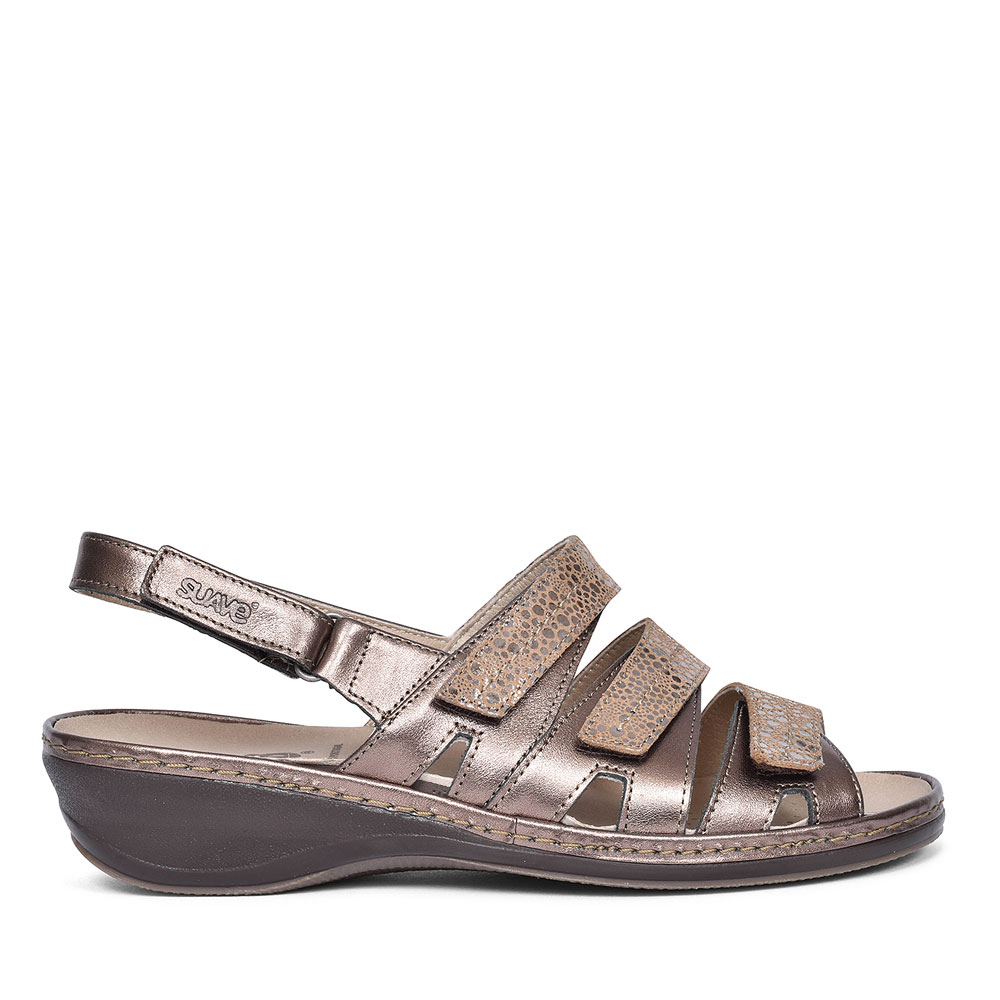 HETTY CASUAL SLINGBACK SANDAL FOR LADIES in BRONZE