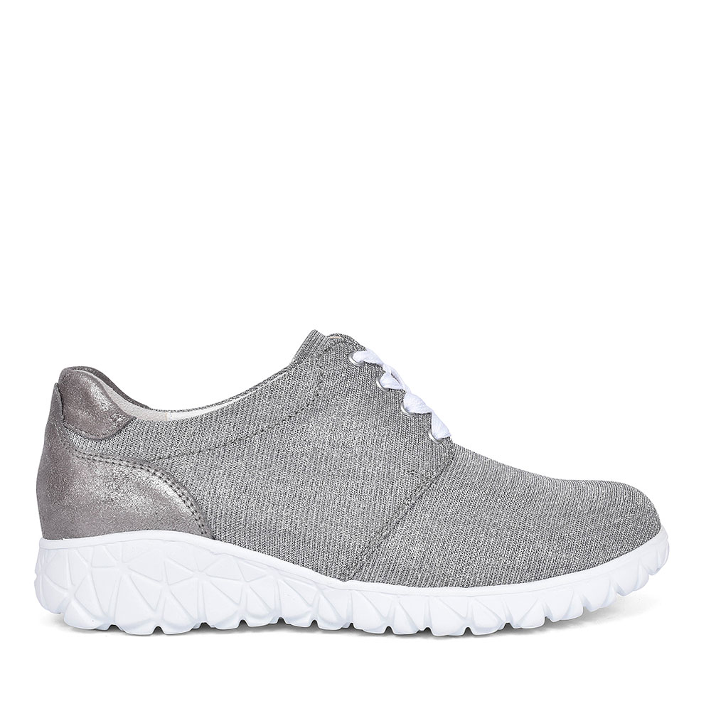 HAVY WOMENS LACE UP SHOES in SILVER