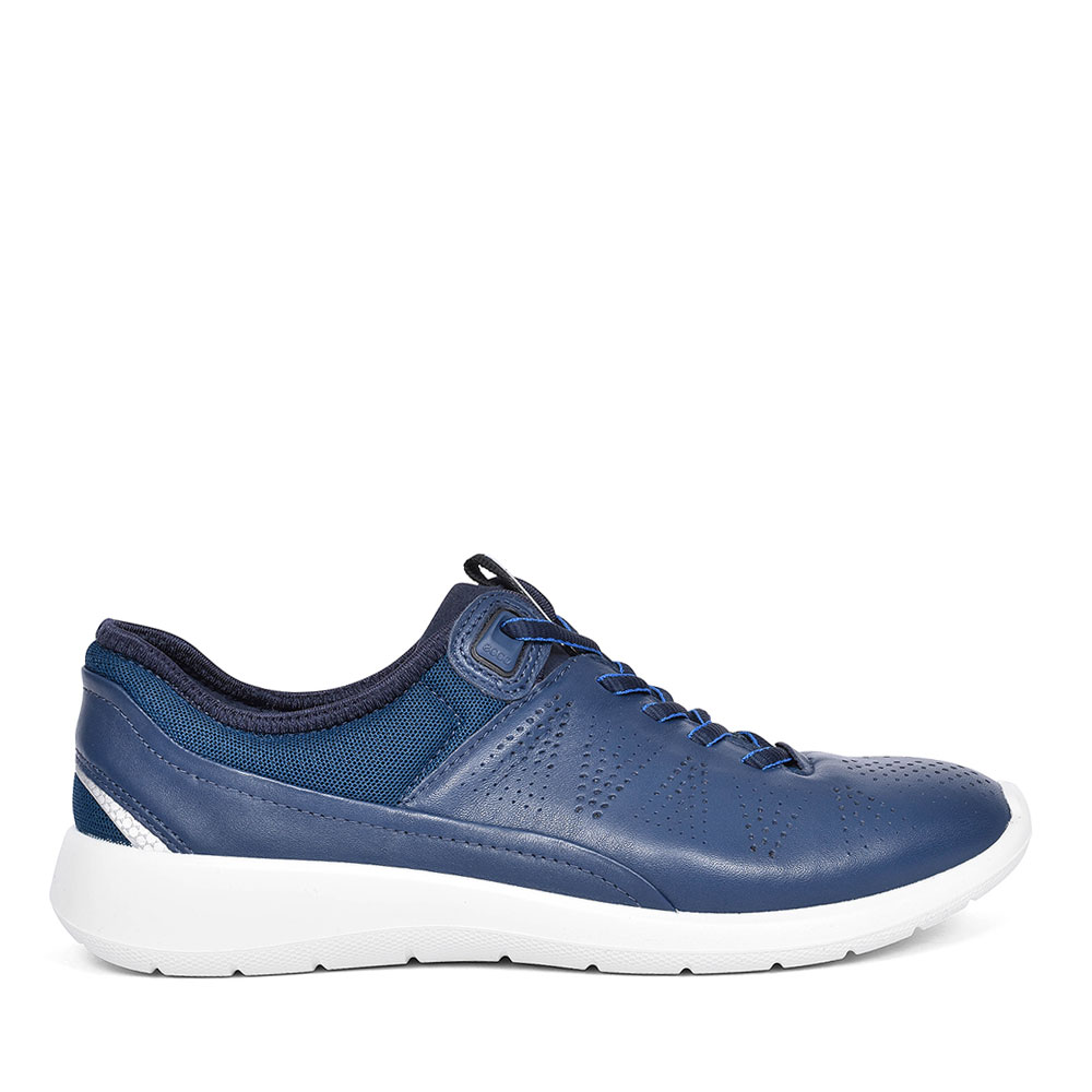 LADIES SOFT 5 LACE TRAINER in NAVY