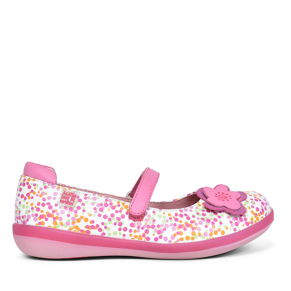 GIRLS FLOWER MARY JANE SHOES in PINK