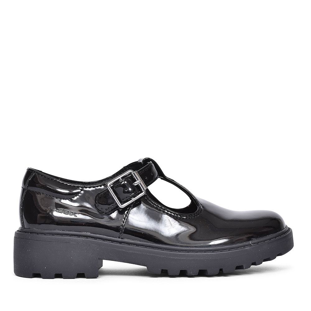 CASEY SHOE FOR GIRLS in BLK PATENT