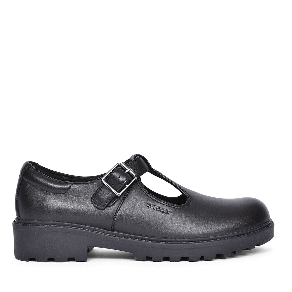 CASEY SHOE FOR GIRLS in BLK LEATHER
