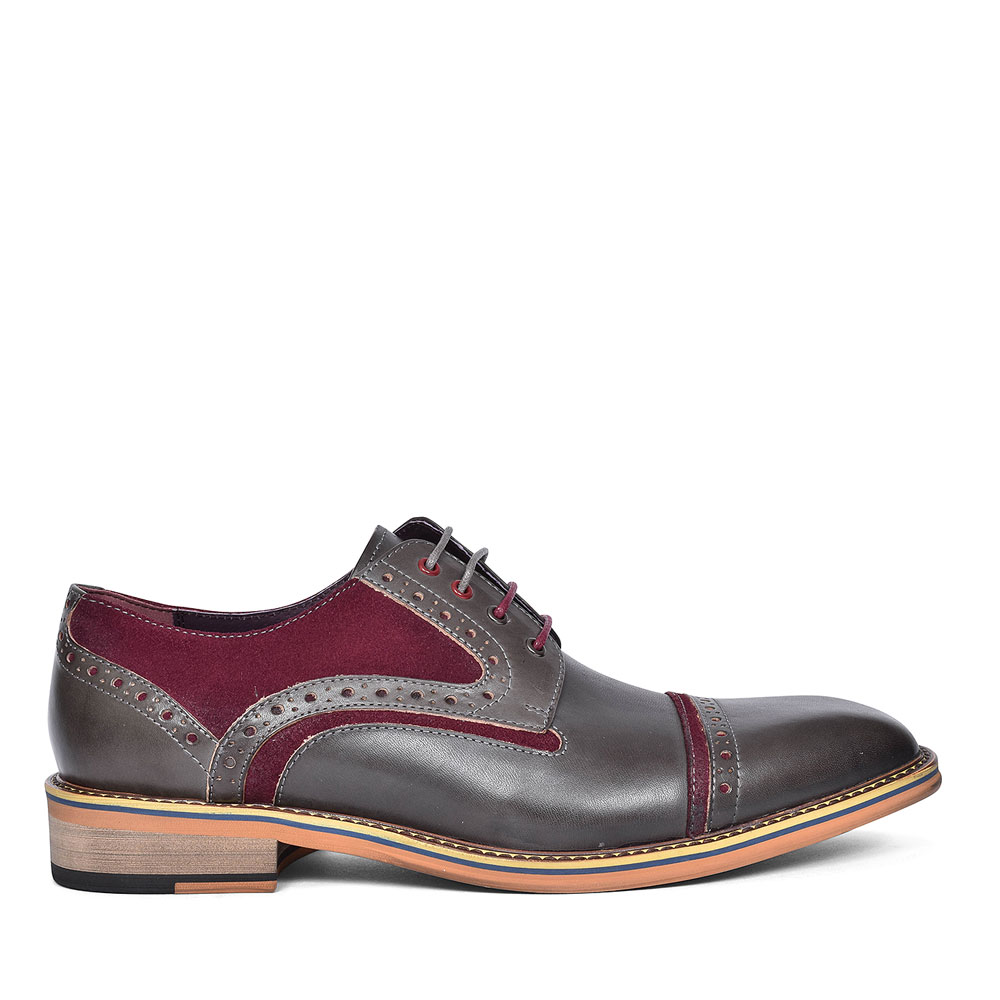 DENNIS LACE UP DRESS BROGUES FOR MEN in GREY
