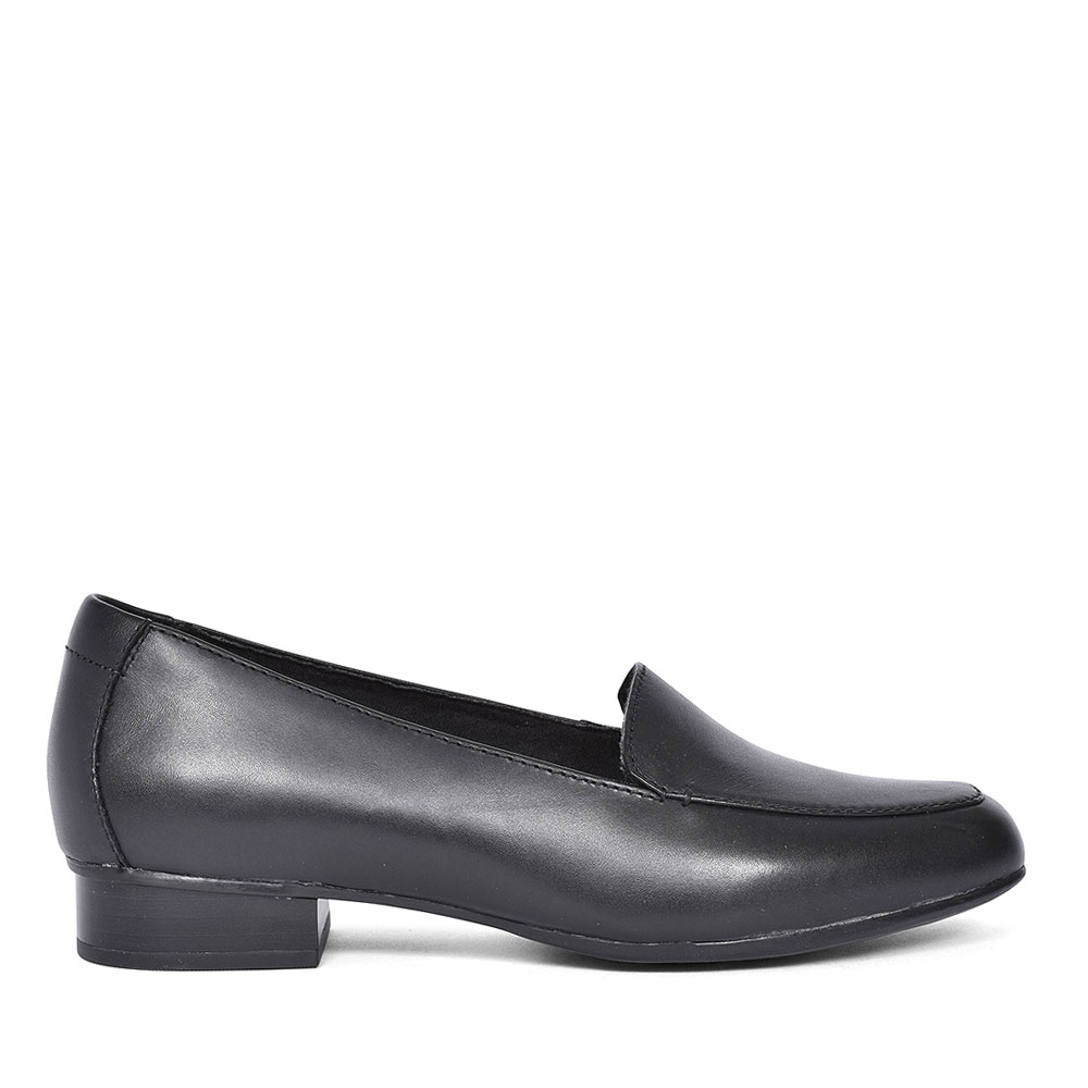 LADIES JULIET LORA E-FIT LEATHER SHOE in BLK LEATHER