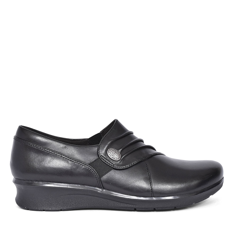 HOPE ROXANNE BLACK LEATHER SHOE FOR LADIES in BLK LEATHER