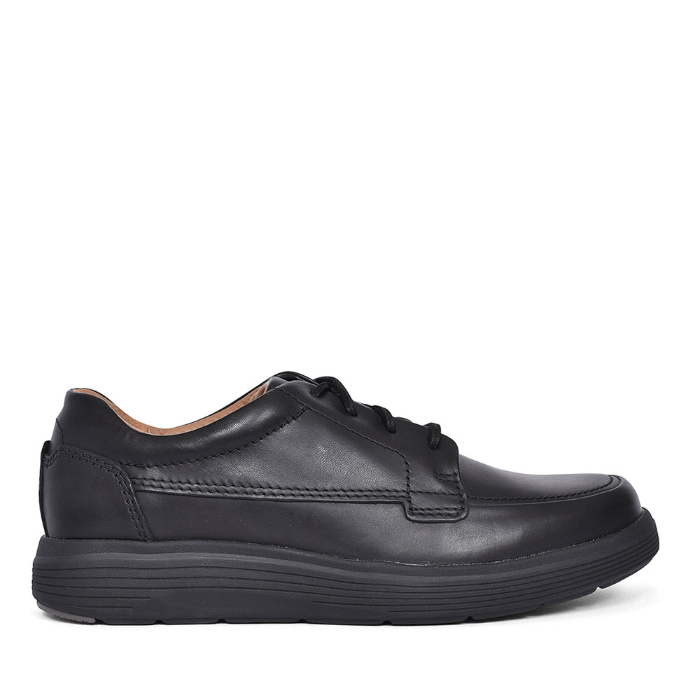 UN ABODE EASE LEATHER SHOE FOR MEN in BLK LEATHER