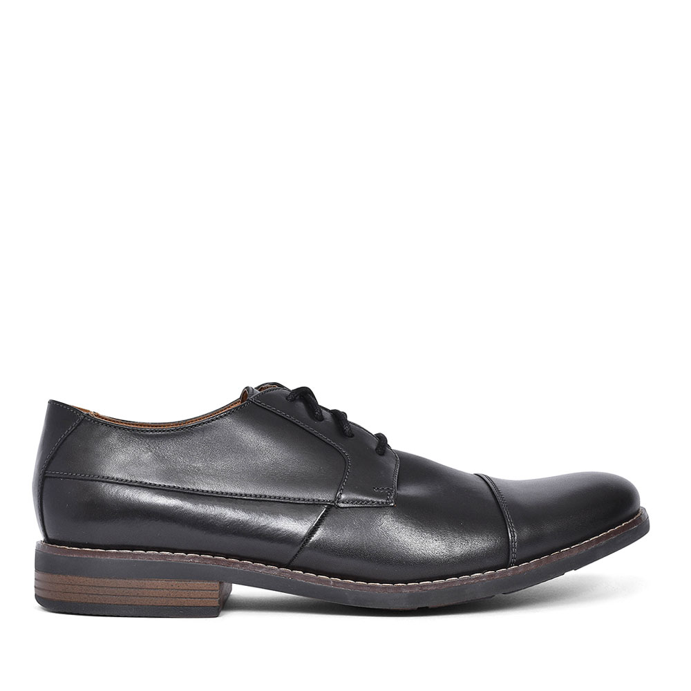 BECKEN CAP LEATHER SHOE FOR MEN in BLK LEATHER