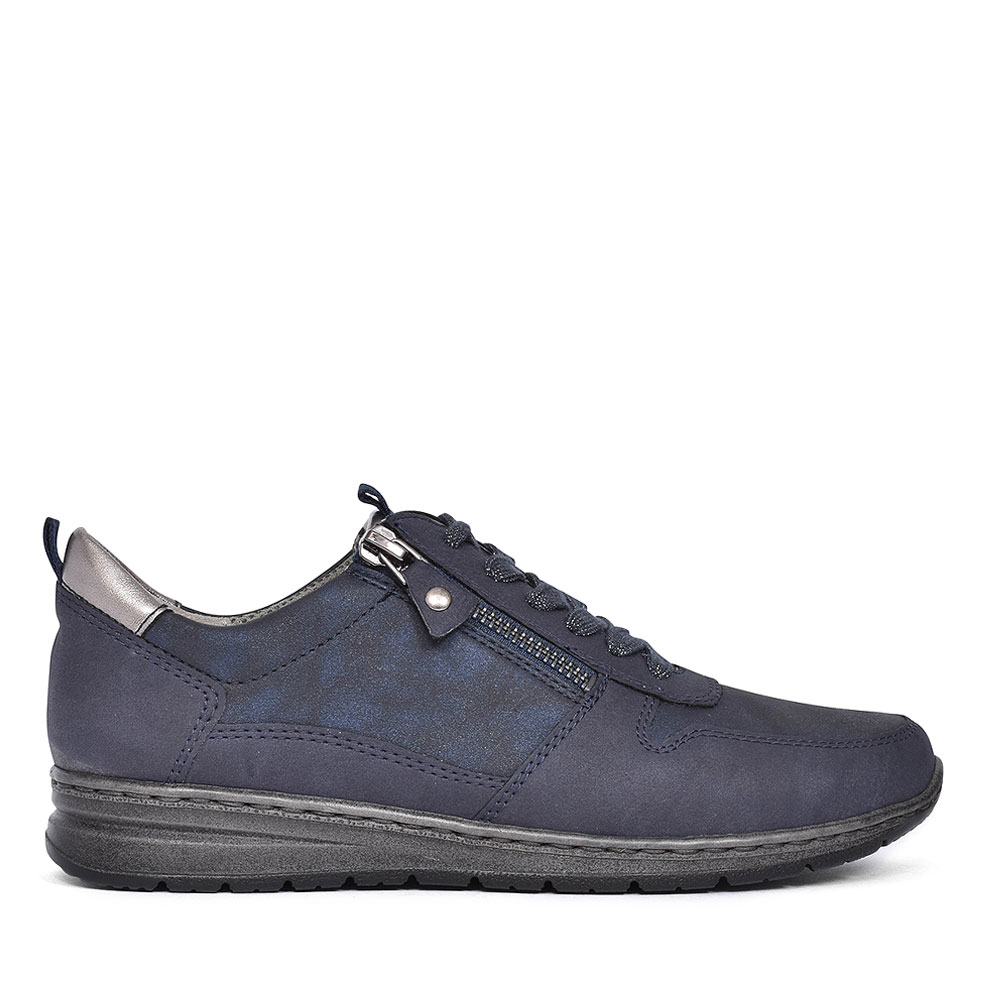 SAPPORO LACED LADIES TRAINER in NAVY